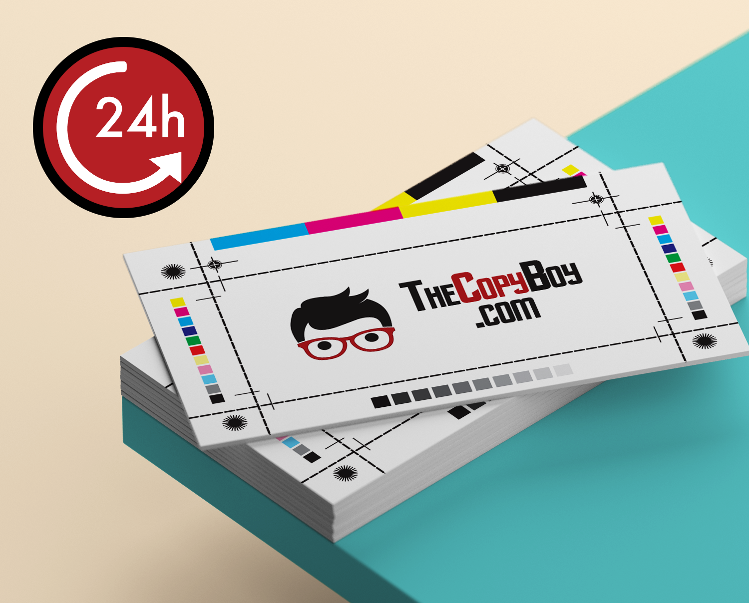 24 Hours Business Card – The Copy Boy