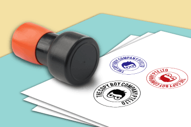 Pre-Ink Rubber Stamp